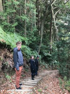 """Here we are on the """"off to the side"""" path (we aren't sure whether it is an old path or a path that has another purpose) right before we realized it did not continue much further."""