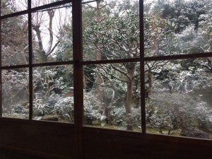 As the day progressed, we could see the snow accumulating through the windows of the tea rom