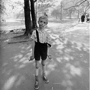 "Child with a toy Hand Grenade in Central Park"" N.Y.C. 1960."
