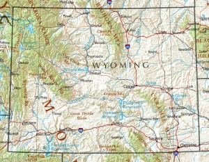 Map of the Powder River Basin