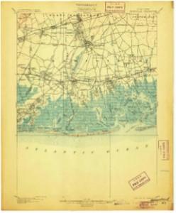 Figure 1- Hempstead Quadrangle Clark, Walcott, and Wilson. 1903. Geologic map of Hempstead Quadrangle: The Geological Survey. Scale 1:62500. Map