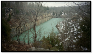 Figure One: Rooftop Quarry, outside Bloomington, IN. Quarries like this one sustained the economy of south-central Indiana for a century. Source: Wikipedia