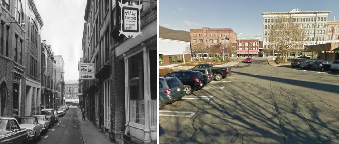 Bank Street before and after