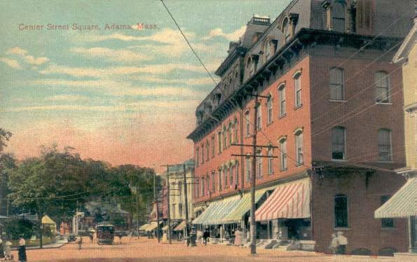 Center Street Square, Adams, MA (postcard c. 1910)
