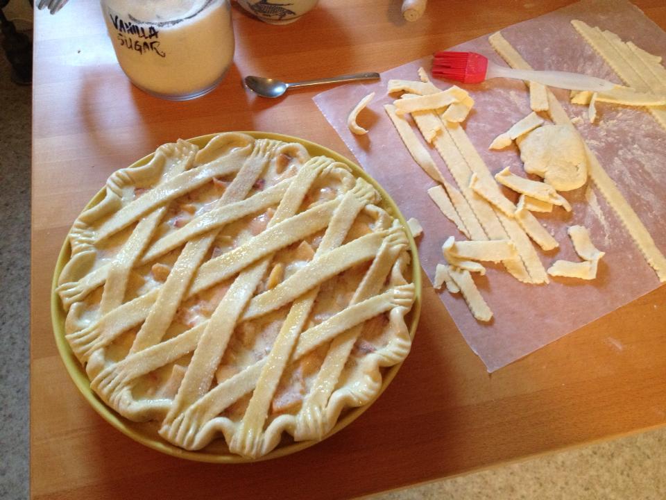 Peach, crème fraîche, & honey pie | Life of Pie | THEA 10