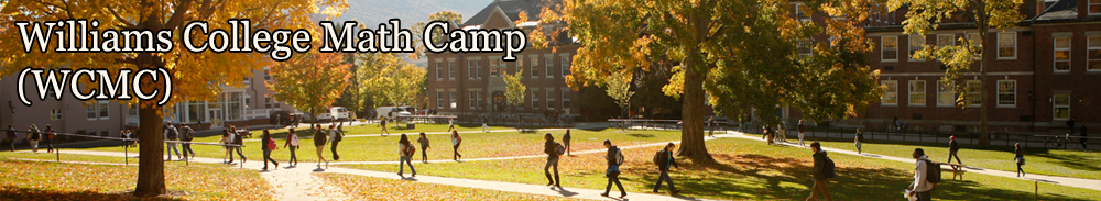 Williams College Math Camp – WCMC