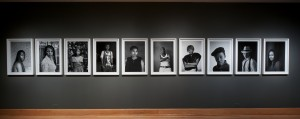 Faces and Phases in WCMA's Faison Gallery, including image of Beyonce Karungi taken in Williamstown, MA, January 2014. Photo taken by Art Evans.