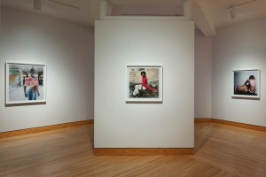 Selections from the Beulahs and Being series installed in Bloedel Gallery, January 2014. Photo taken by Art Evans.