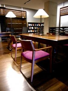 WEMP: Wood, elegant, medium, purple cushion