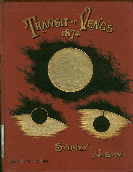 The cover of a book on the Transit of Venus by Henry Chamberlain Russell