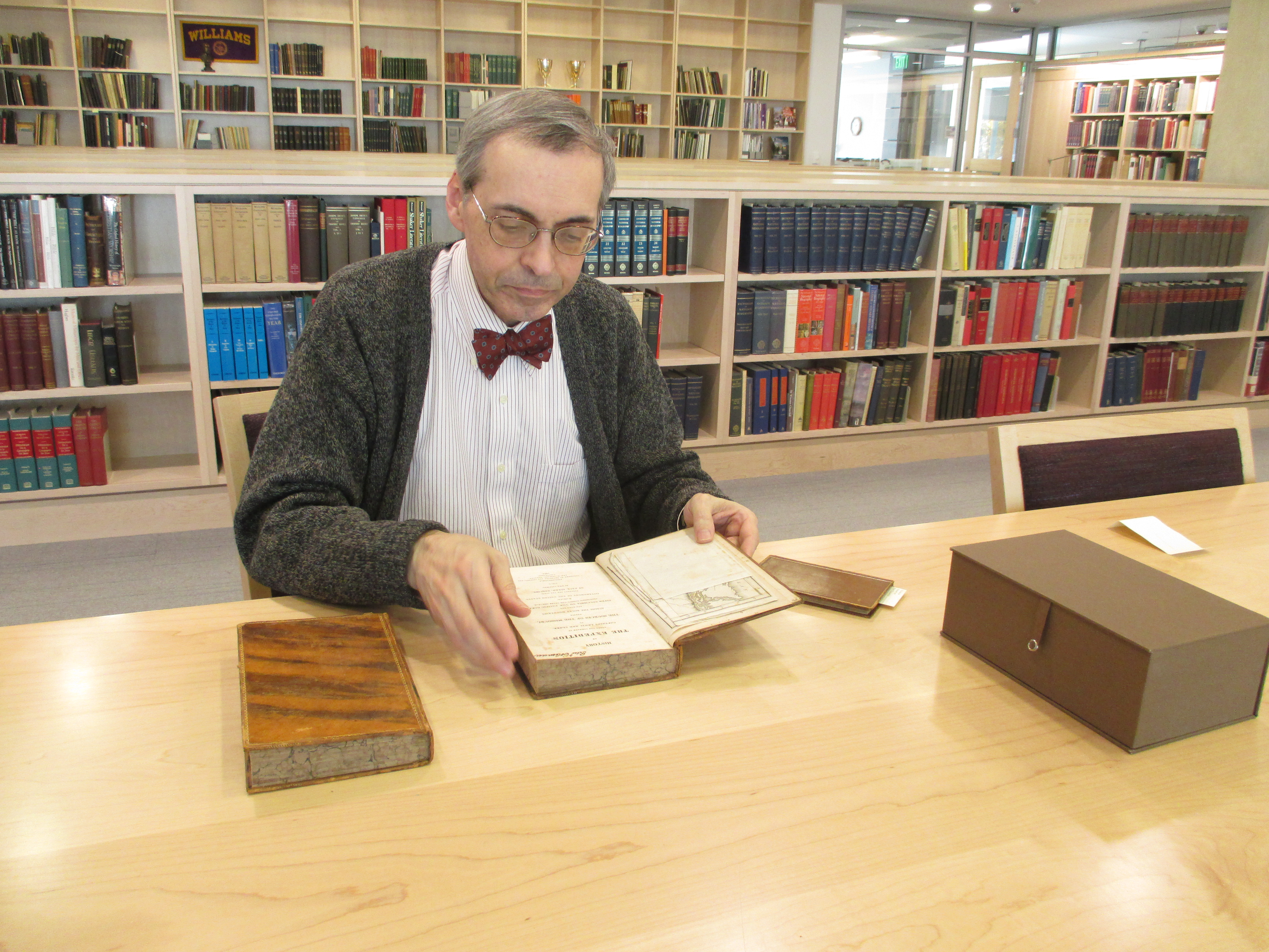 Wayne Hammond in the Chapin Rare Books Library