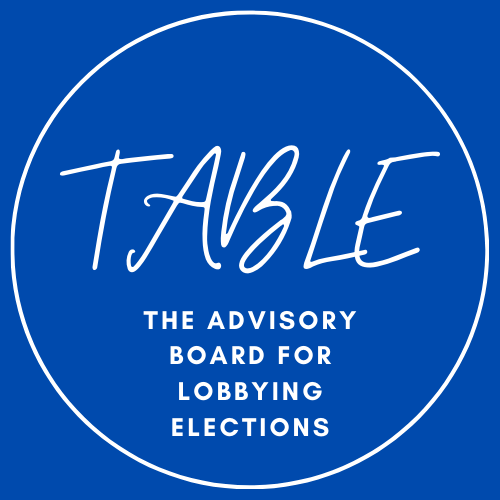 THE ADVISORY BOARD FOR LOBBYING ELECTIONS (TABLE)