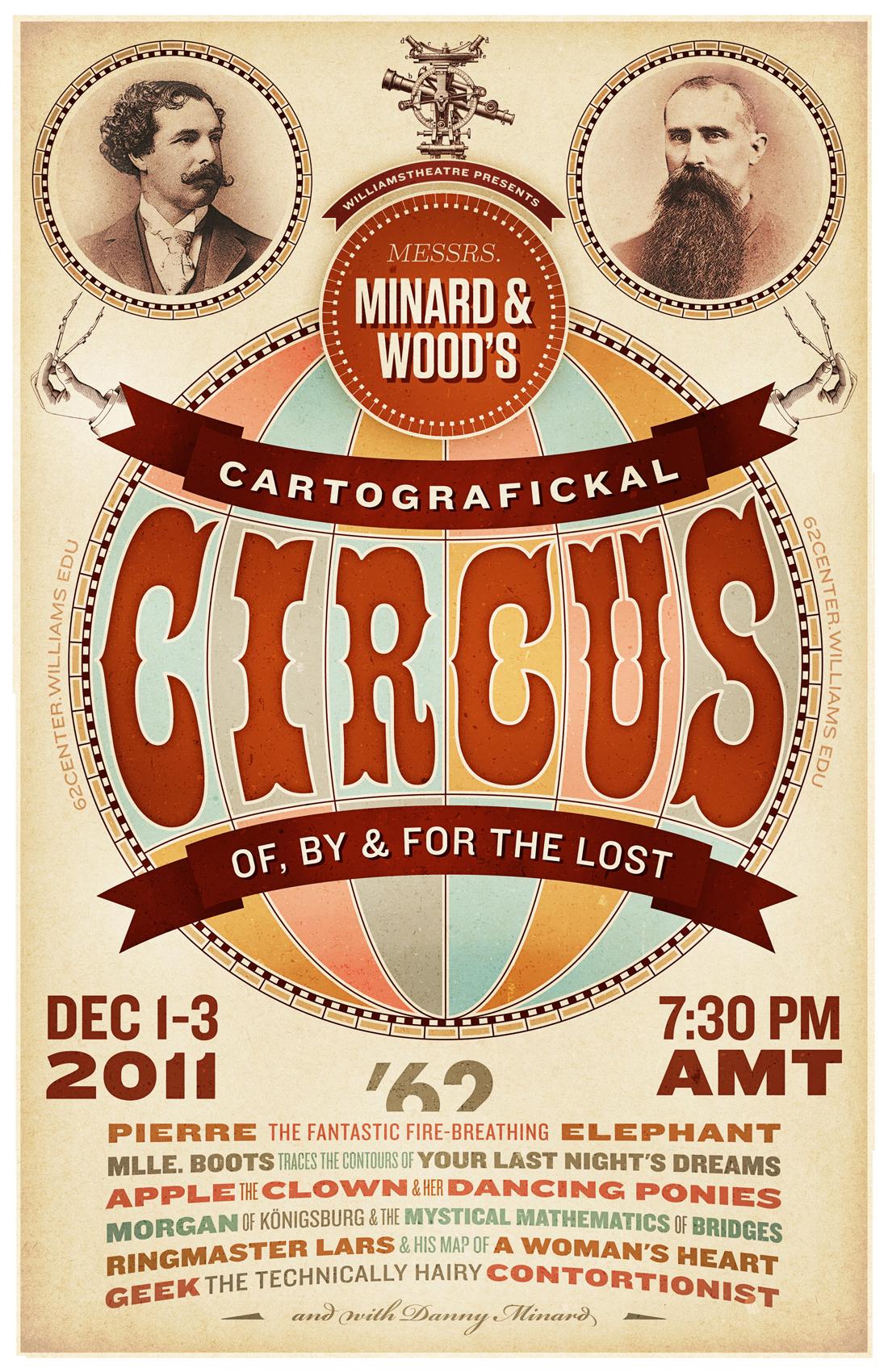 Messrs Minard Amp Wood S Cartografickal Circus Poster