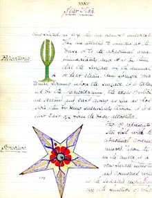Maxcy's description of a starfish (accession 2013.023)