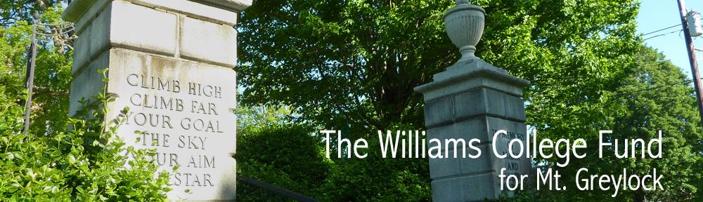 Williams College Fund for Mt. Greylock
