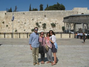 From left to right, Connor, Amy, Elvira, and Lydia in front of the Western Wall of the Old City's Temple Mount. It's fitting for the team's season of sightseeing to have culminated at the most enduringly relevant piece of Herodian architecture in Israel, a structure that continues to be of supreme religious value to millions.