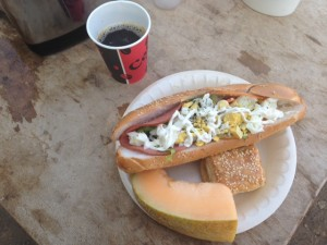 Ignore all that mayonnaise--this is a photo of someone else's sandwich.