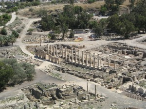 Bet She'an, a Roman Decapolis city south of the Sea of Galilee which expanded and grew during the Late Roman period (4th to 6th centuries C.E.)